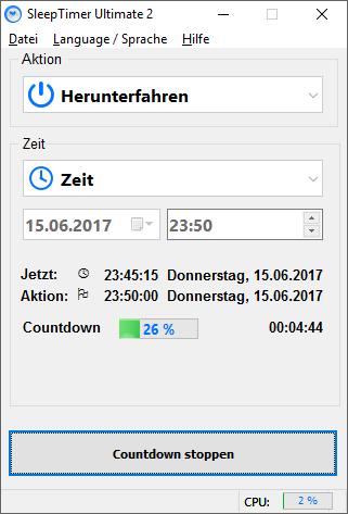 SleepTimer Ultimate - Programmez l'arrêt de votre pc ou l'exécution d'un programme 5