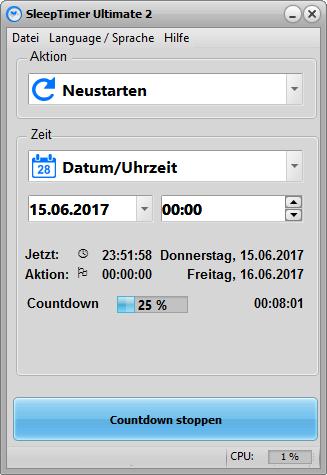 SleepTimer Ultimate - Programmez l'arrêt de votre pc ou l'exécution d'un programme 4